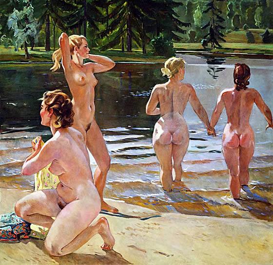 Порно купание в бане